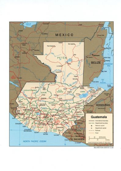 CIA Map of Guatemala 2000 Print/Poster (5439)